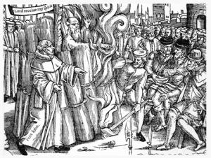 Cranmer burnt 1556