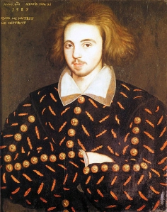 Christopher Marlowe, unknown artist, c.1585.