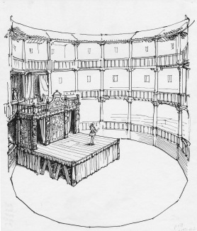 Interior of an Elizabethan theater